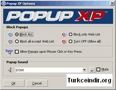 Popup XP Home Edition