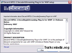 Elecard MPEG-2 Decoder and Streaming Plug-in for WMP 3.4.70328
