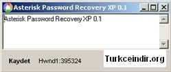 Asterisk Password Recovery XP