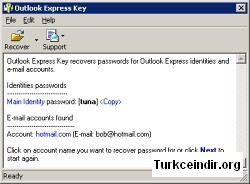 Outlook Express Key